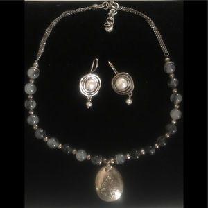 Brighton Glass Bead & Pendant Necklace